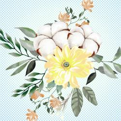 flores de algodon